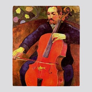 Gauguin: The Cellist, Paul Cezanne p Throw Blanket