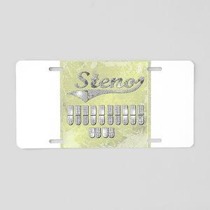 eat_drink_sleep_3 Aluminum License Plate
