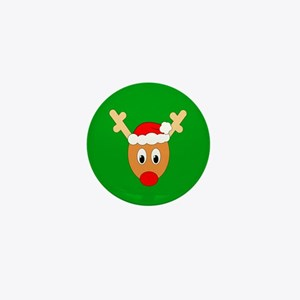 Ugly Sweater Reindeer Mini Button