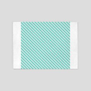 Christmas stripe 5'x7'Area Rug