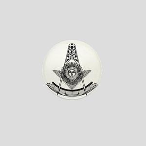 Masonic Past Master Emblem Mini Button