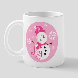 Cute Pink Snowman Joy Mug