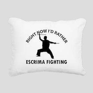 Escrima fighting designs Rectangular Canvas Pillow