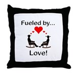 Fueled by Love Throw Pillow