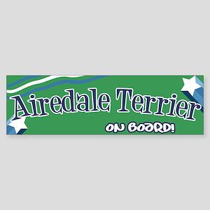 Airedale Terrier on board bum Bumper Sticker