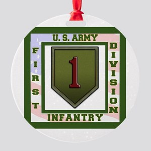 Big Red One Round Ornament