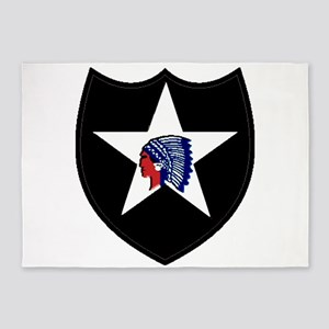 2Nd Infantry Division 5'X7'area Rug