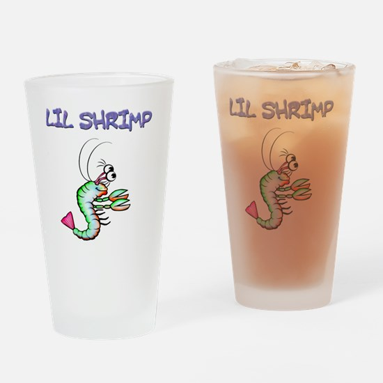 Lil shrimp Drinking Glass