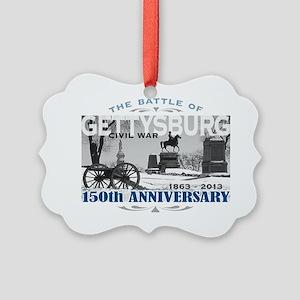 150 Anniversary Gettysburg Battle Picture Ornament