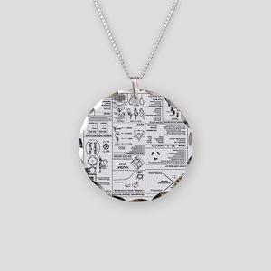 Upsidedown CERT Prompt Necklace Circle Charm