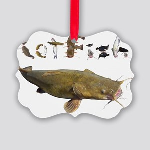 Catfish side font Picture Ornament