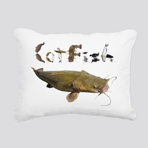 Catfish side font Rectangular Canvas Pillow