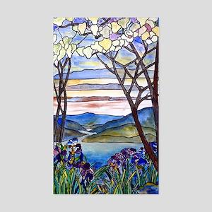 Tiffany Frank Memorial Window Sticker (Rectangle)