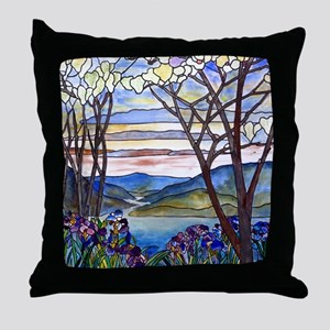 Tiffany Frank Memorial Window Throw Pillow