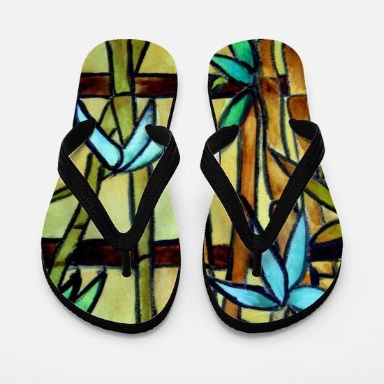 Tiffany Bamboo Panel Flip Flops