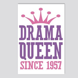 Drama Queen Since 1957 Postcards (Package of 8)