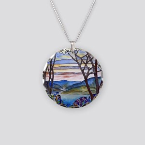 Frank Memorial Window Necklace Circle Charm