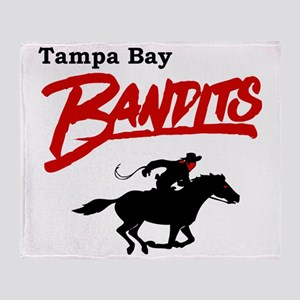 Tampa Bay Bandits Retro Logo Throw Blanket