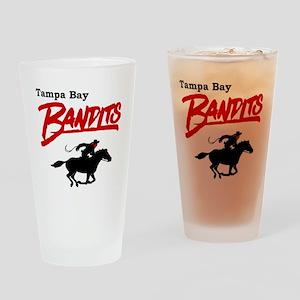 Tampa Bay Bandits Retro Logo Drinking Glass