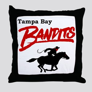 Tampa Bay Bandits Retro Logo Throw Pillow