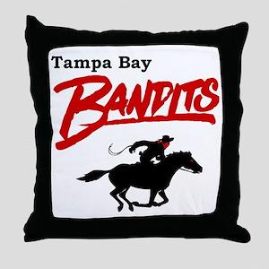 Tampa Bay Bandits Retro Logo Throw Pillow
