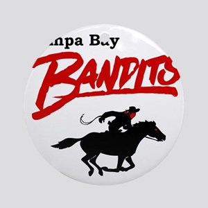 Tampa Bay Bandits Retro Logo Round Ornament