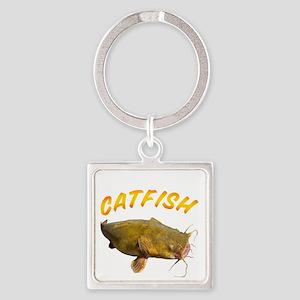 Catfish side Square Keychain