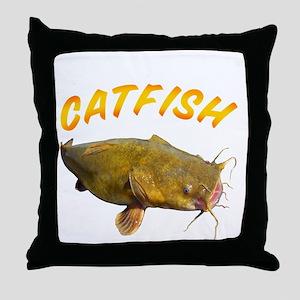 Catfish side Throw Pillow