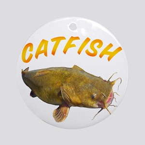 Catfish side Round Ornament