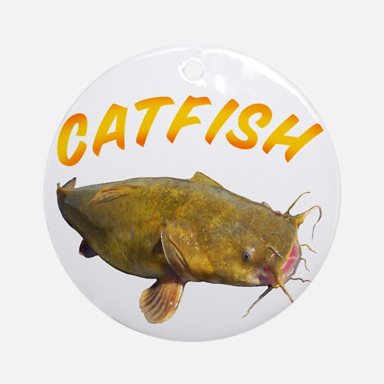 Catfish side Round Ornament