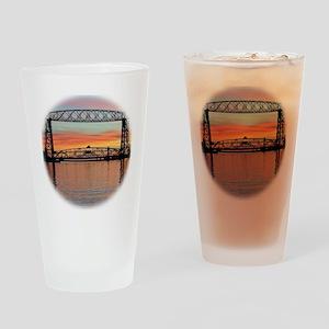 Sunrise under the Bridge Drinking Glass
