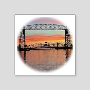 "Sunrise under the Bridge Square Sticker 3"" x 3"""
