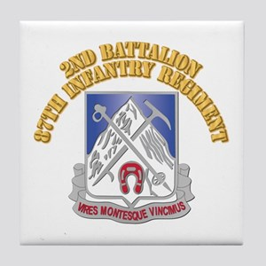 DUI - 1st Battalion,87th Infantry Regiment with Te