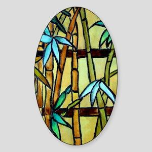 Tiffany Bamboo Panel Sticker (Oval)