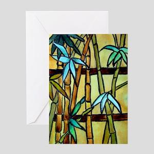 Tiffany Bamboo Panel Greeting Card