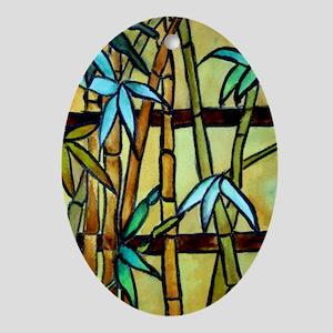 Tiffany Bamboo Panel Oval Ornament