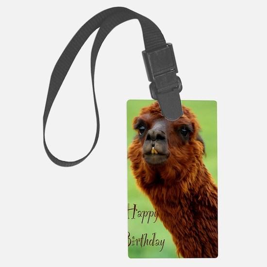 funny alpaca birthday Luggage Tag