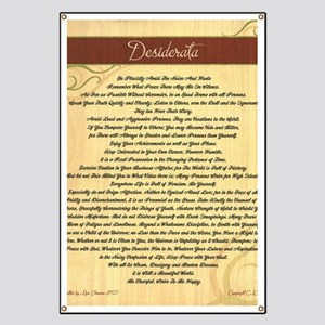 Desiderata on Woodgrain Banner