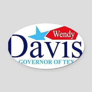 Wendy Davis for Governor Oval Car Magnet