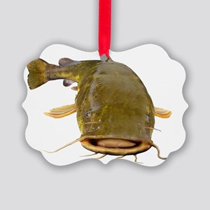 Fat Flathead catfish Picture Ornament