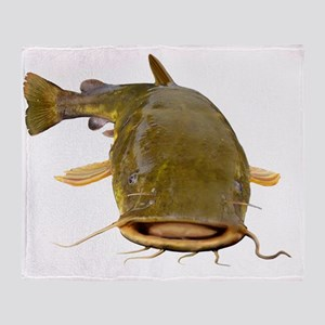 Fat Flathead catfish Throw Blanket