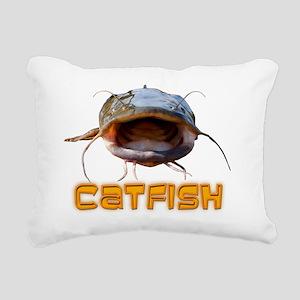 Bigmouth Flathead catfis Rectangular Canvas Pillow