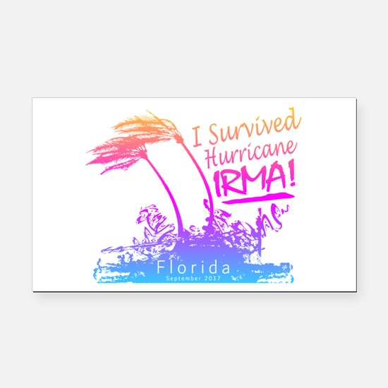 I Survived Hurricane Irma Rectangle Car Magnet