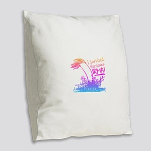 I Survived Hurricane Irma Burlap Throw Pillow