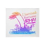 I Survived Hurricane Irma Throw Blanket