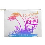 I Survived Hurricane Irma Makeup Pouch