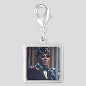 The Most Hon. Elijah Muhammad Silver Square Charm
