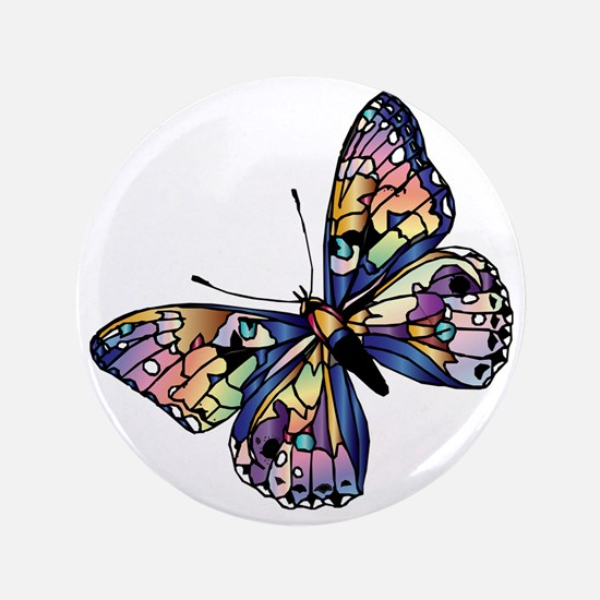 "Exotic Butterfly 3.5"" Button"