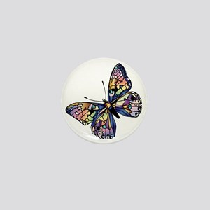 Exotic Butterfly Mini Button
