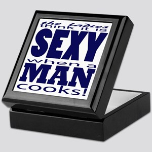 Sexy Man Blue Keepsake Box